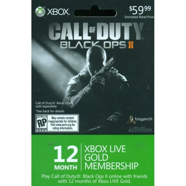 Xbox Live 12-Months Card (Call of Duty: Black Ops II Edition)
