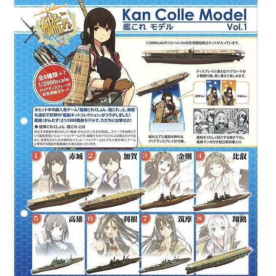 Kantai Collection: Kan Colle Model Vol.1 (Colored Kit) (Set of 10 pieces)