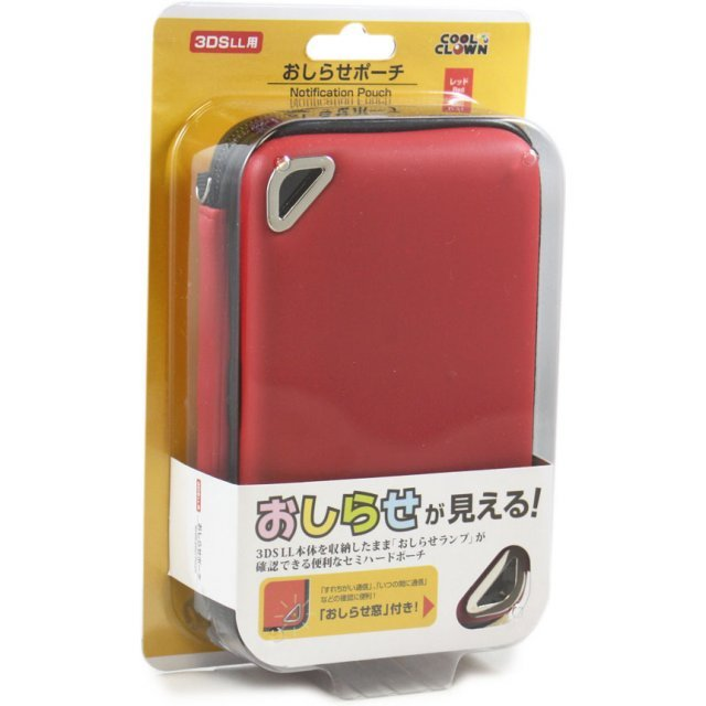 Oshirase Pouch for 3DS LL (Red)