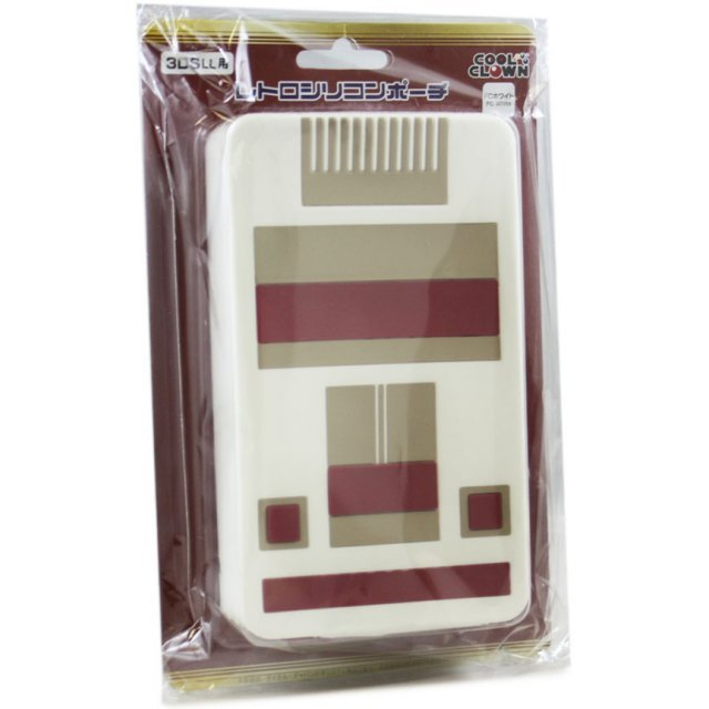 Retro Silicone Pouch for 3DS LL (FC White)
