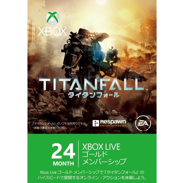 Xbox 360 Live 24-Month Gold Membership Card (Titanfall Edition)