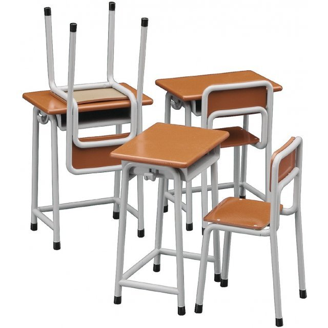 1/12 Posable Figure Accessory - School Desks and Chairs (figma and Nendoroid Figures)