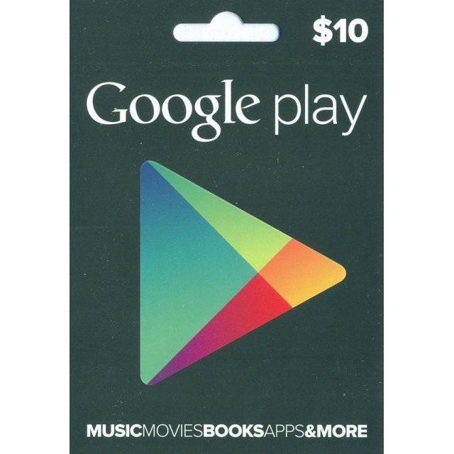 Google Play Card (US$10 / for US accounts only)