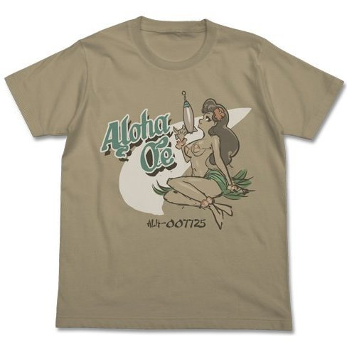 Space Dandy Append T-shirt Sand Khaki M: Aloha Oe (Re-run)