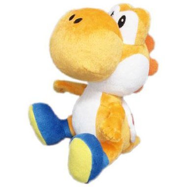 Super Mario Plush Doll: Orange Yoshi (Small)
