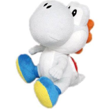 Super Mario Plush Doll: White Yoshi (Small)