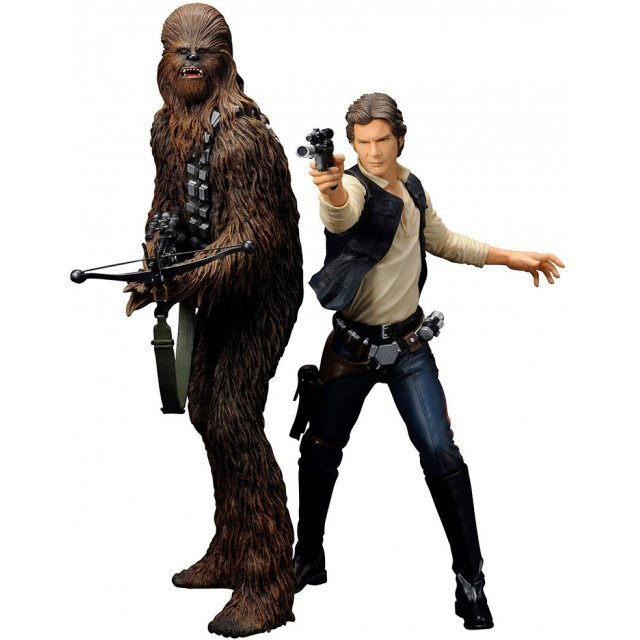 ARTFX+ Star Wars Episode IV A New Hope 1/10 Scale Pre-Painted Figure: Han Solo & Chewbacca