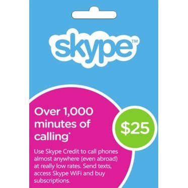 Skype Prepaid Credit Card (USD $25)