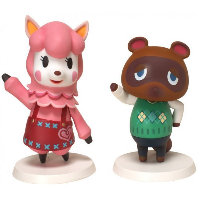 Animal Crossing Soft Vinyl Figure: Tanukichi and Risa