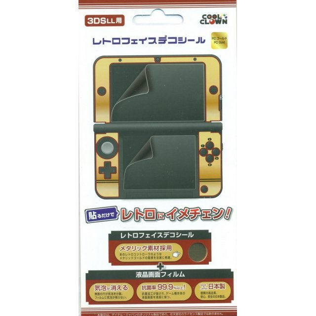 Retro Face Decoration Seal for 3DS LL