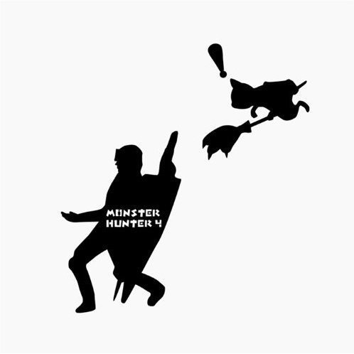Monster Hunter Wall Sticker Carry the Eggs of Secret
