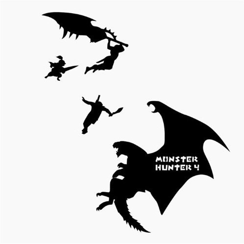 Monster Hunter Wall Sticker (Height Difference Hunting)