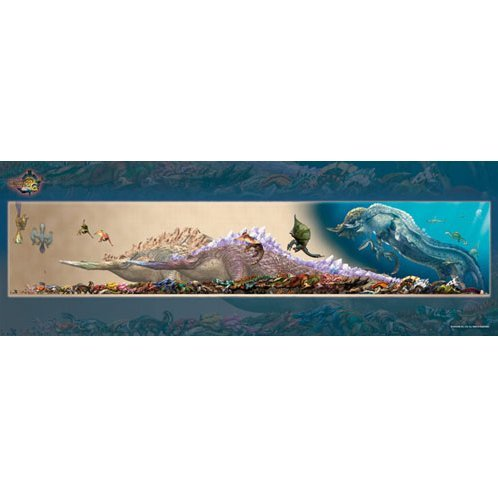 Monster Hunter 3G Monster Size Chart Jigsaw Puzzle