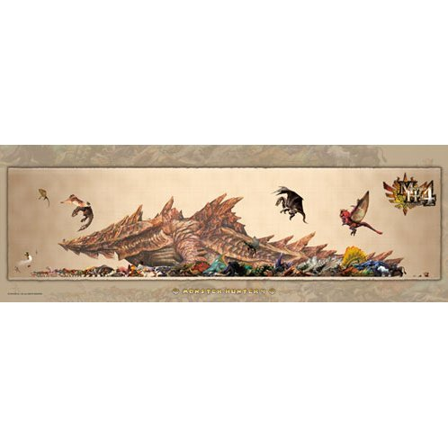 Monster Hunter 4 Monster Size Chart Jigsaw Puzzle
