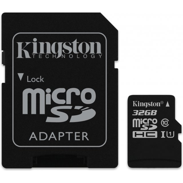 Kingston microSDHC 32GB kit, UHS-I/Class 10