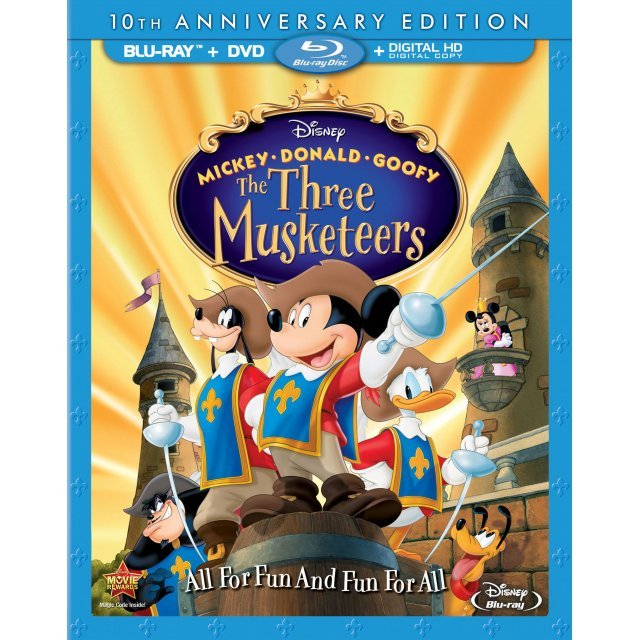 Mickey, Donald, Goofy: The Three Musketeers [Blu-ray+DVD+Digital Copy]
