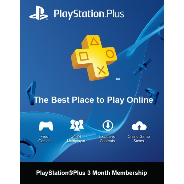 PlayStation Plus 3 Months Membership Card