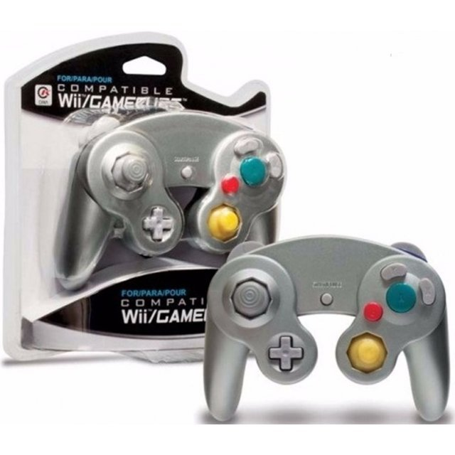 CirKa Wired Controller For Wii/GameCube (Silver)