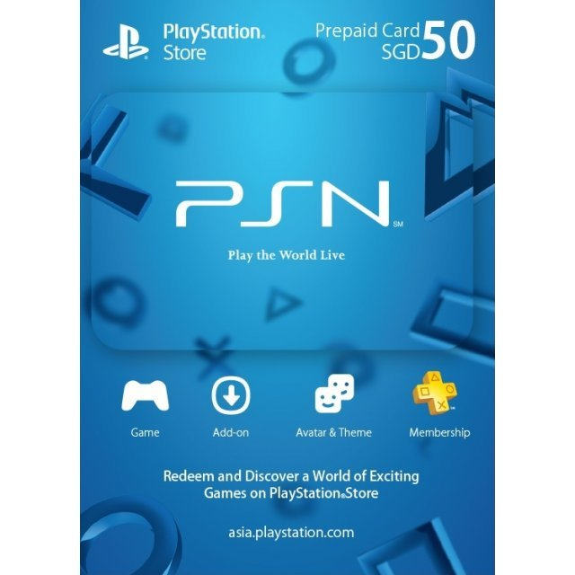 PSN Card 50 SGD | Playstation Network Singapore
