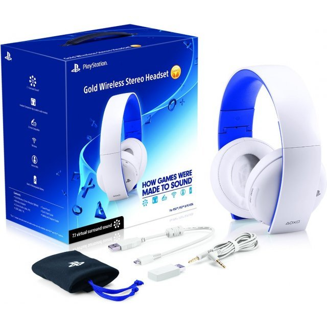 Playstation Gold Wireless Stereo Headset 2.0 (Glacier White)
