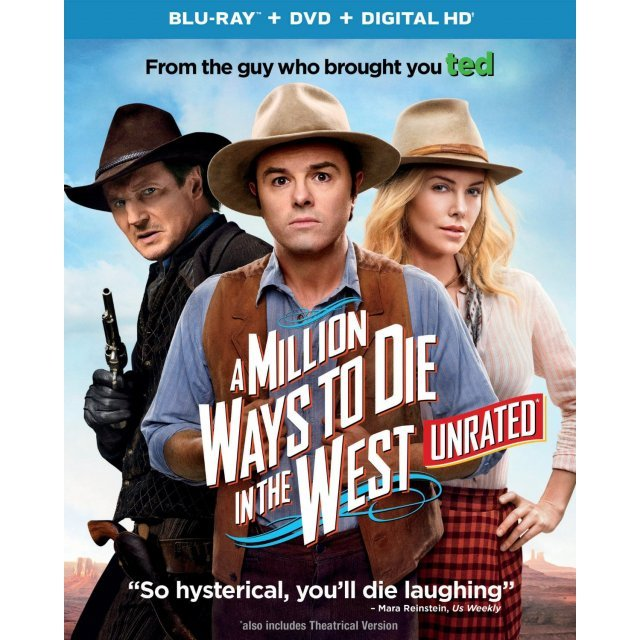 A Million Ways to Die in the West (Unrated) [Blu-ray+DVD+UltraViolet]