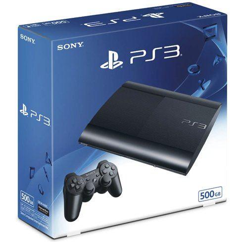 PlayStation3 Slim Console (HDD 500GB Model) - 110V Black