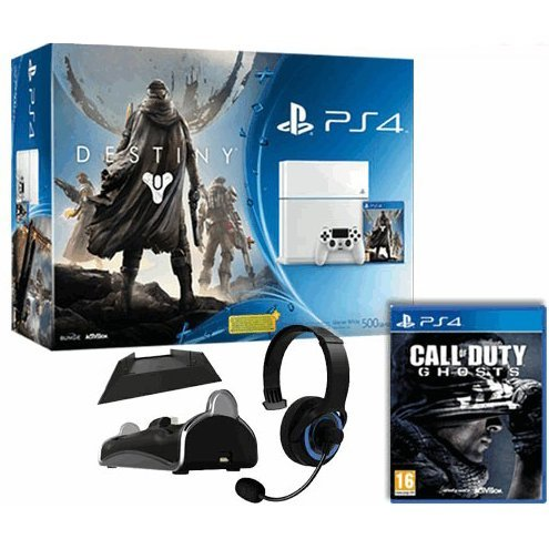 PlayStation 4 White with Destiny + Vanguard, Call of Duty: Ghosts, and PlayStation 4 Starter Pack