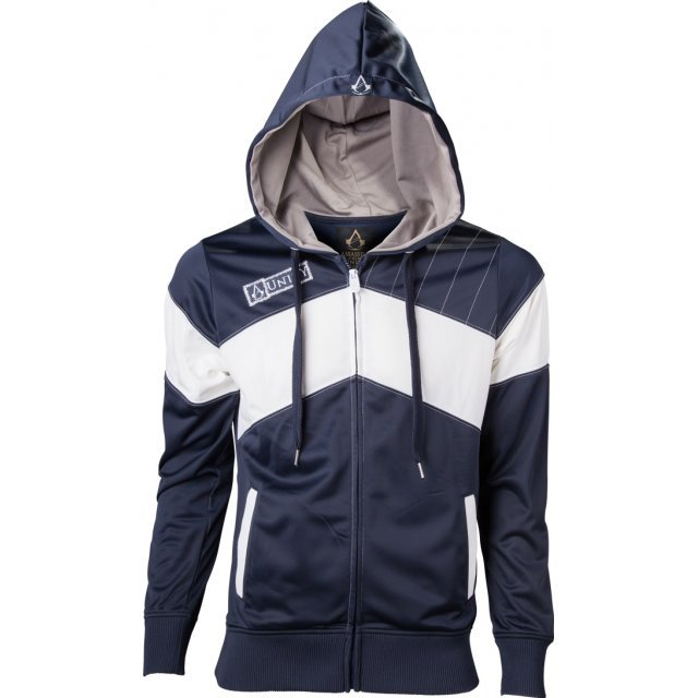 Ubisoft Assassin's Creed Unity Hoodie - Men (Blue/White) (XXL)
