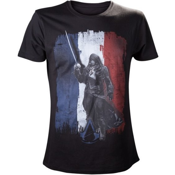 Ubisoft Assassin's Creed Unity Tricolore Male Shirt (Black) (S)