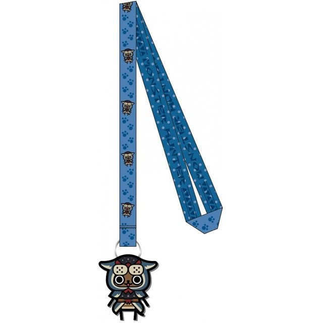 Monster Hunter Rubber Reel Neck Strap: Ashira Neko Series