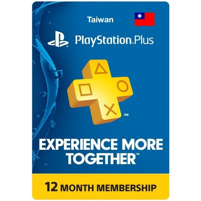 PlayStation Plus 12 Month Membership TW (Taiwan)