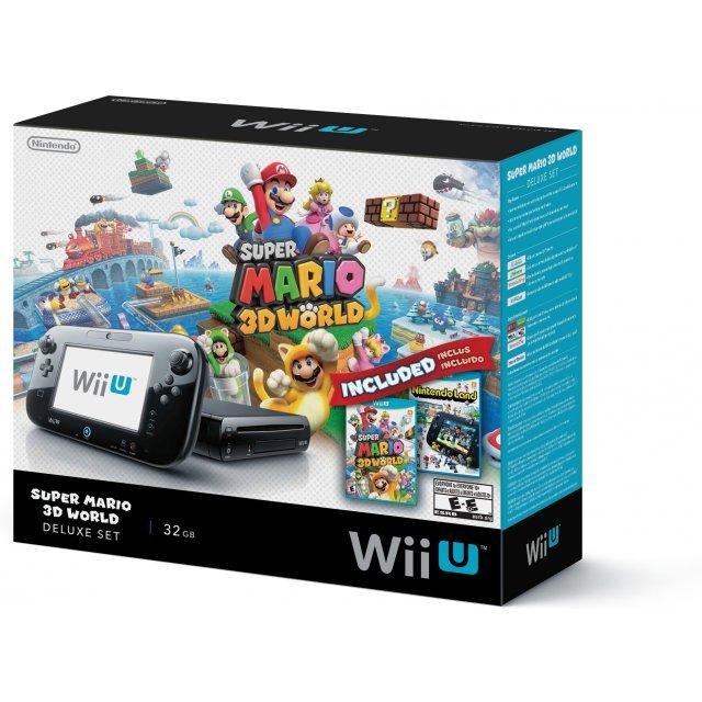 Nintendo Wii U Super Mario 3D World Deluxe Set (Black)
