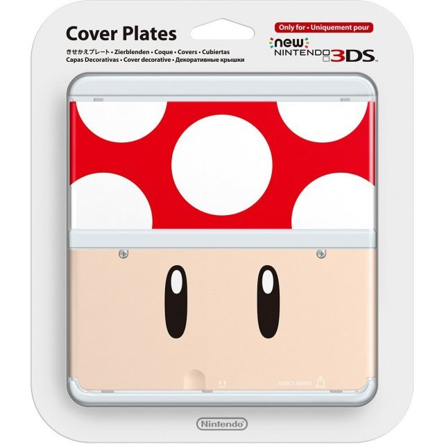 New Nintendo 3DS Cover Plates No.019 (Super Mushroom)