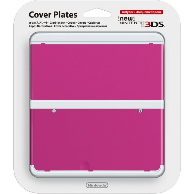 New Nintendo 3DS Cover Plates No.032 (Pink)