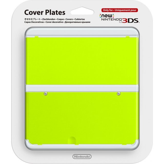 New Nintendo 3DS Cover Plates No.034 (Yellow Green)