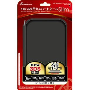 Semi Hard Case Slim for New 3DS (Black)