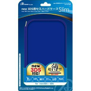 Semi Hard Case Slim for New 3DS (Blue)