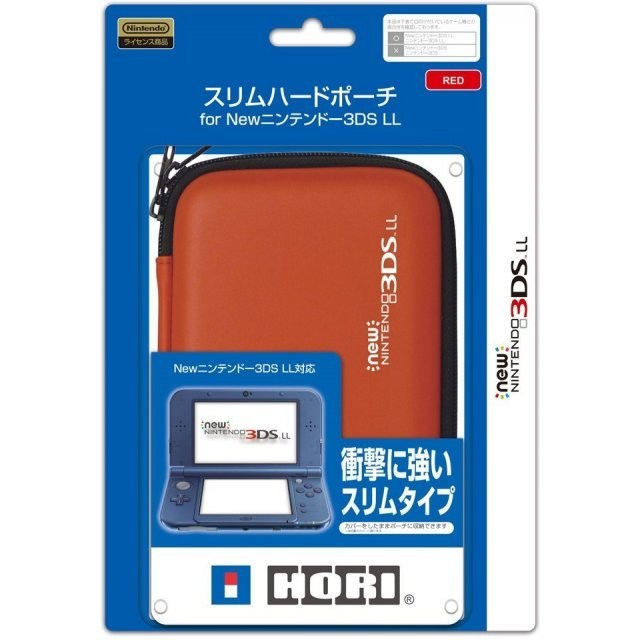 Slim Hard Pouch for New 3DS LL (Red)