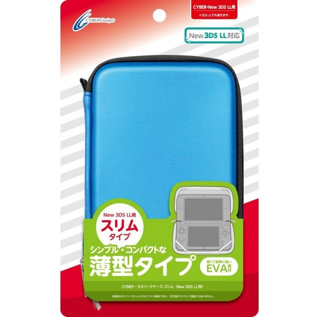 Semi Hard Case Slim for New 3DS LL (Blue)