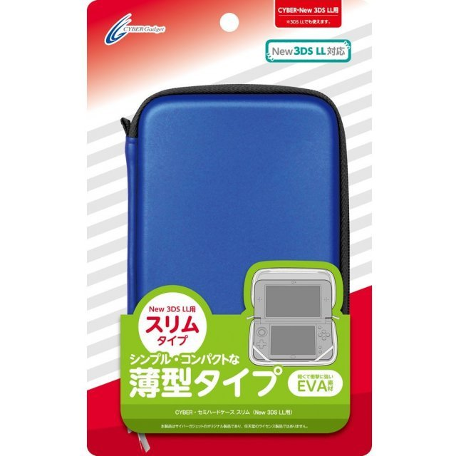 Semi Hard Case Slim for New 3DS LL (Navy)