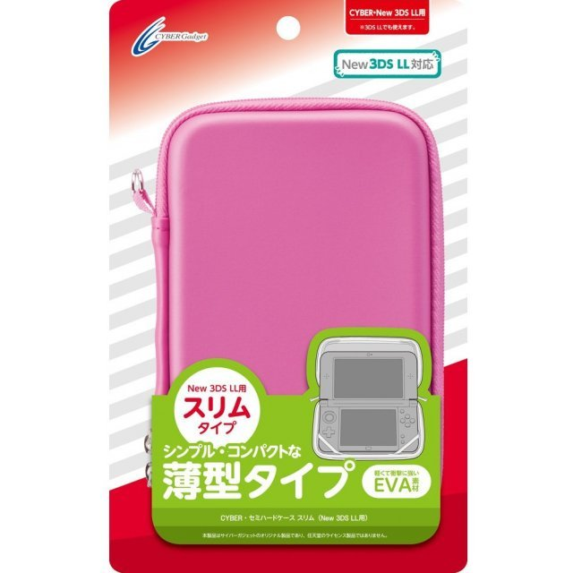 Semi Hard Case Slim for New 3DS LL (Pink)