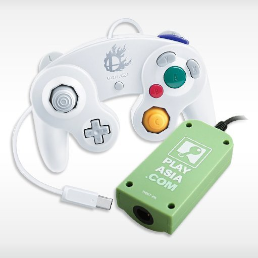 Controller Adapter for Wii U with White GameCube Controller (Play-Asia.com Bundle)