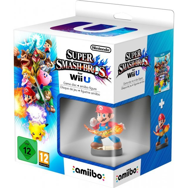 Super Smash Bros. for Wii U + Mario Amiibo Figure