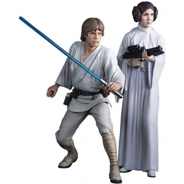 ARTFX+ Star Wars Episode IV A New Hope 1/10 Scale Pre-Painted Figure: Luke Skywalker & Princess Leia