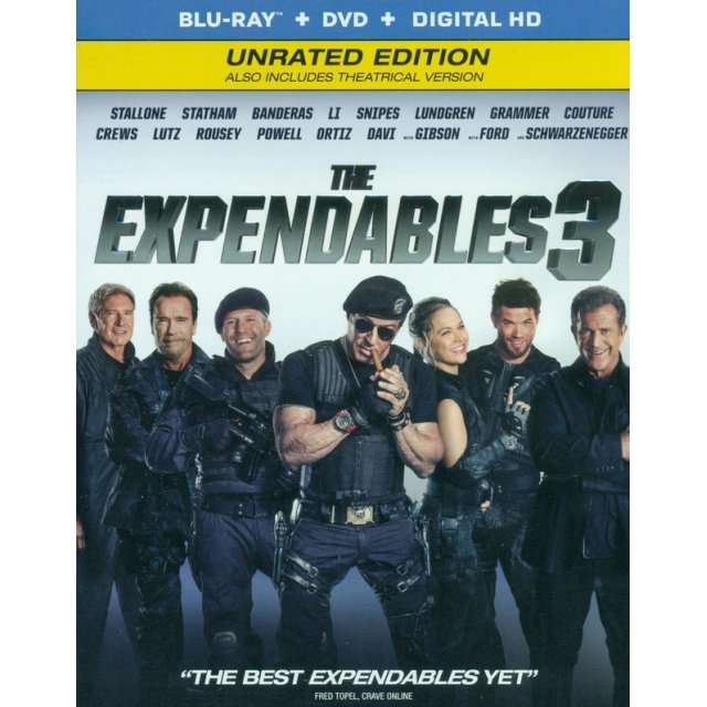 The Expendables 3 (Unrated Edition) [Blu-ray+DVD+Digital HD]
