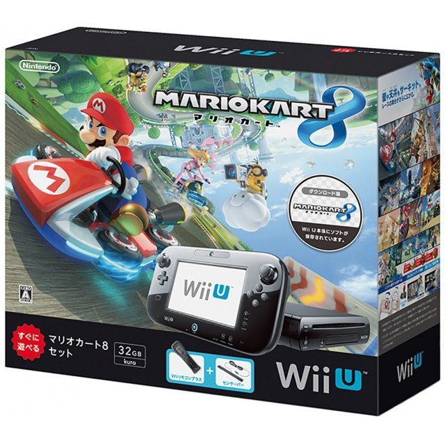 wii u mario kart 8 set 32gb black. Black Bedroom Furniture Sets. Home Design Ideas