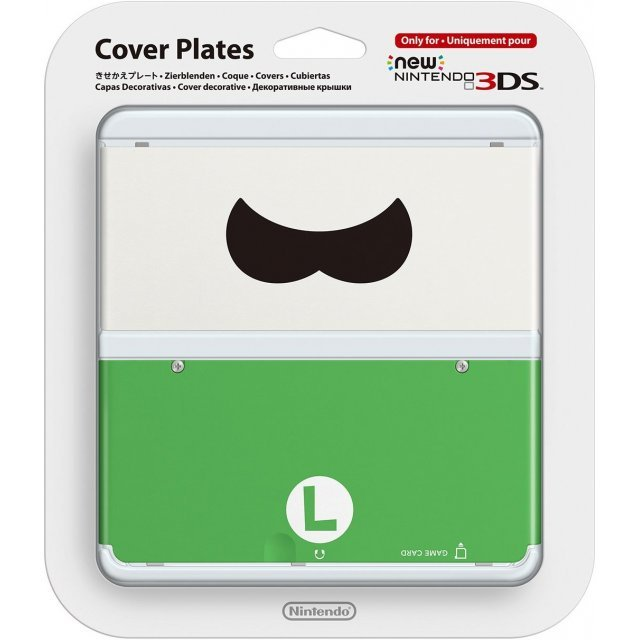 New Nintendo 3DS Cover Plates No.048 (Luigi Mustache)