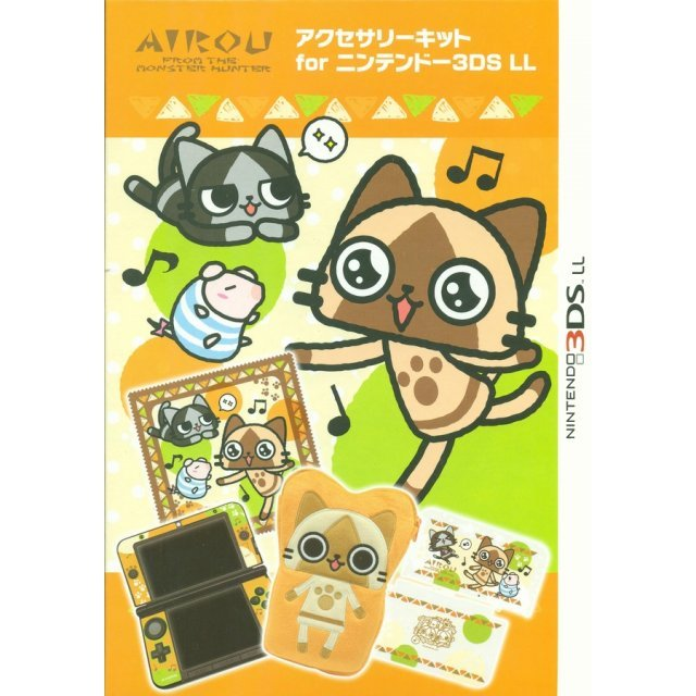 MH Airou Accessory Kit for 3DS LL (Damage on package)