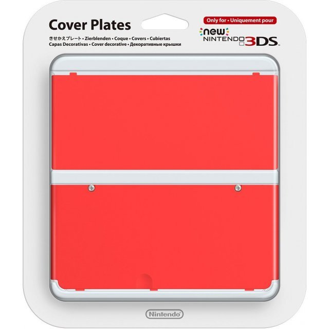 New Nintendo 3DS Cover Plates No.011 (Red) (Slight damage on package)