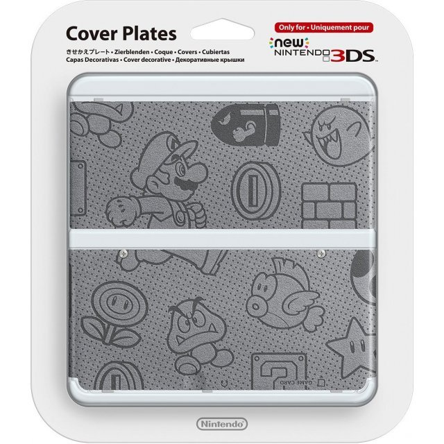 New Nintendo 3DS Cover Plates No.012 (Felt) (Slight damage on package)
